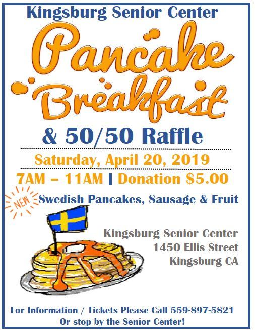 2019 Pancake Breakfast Flyer